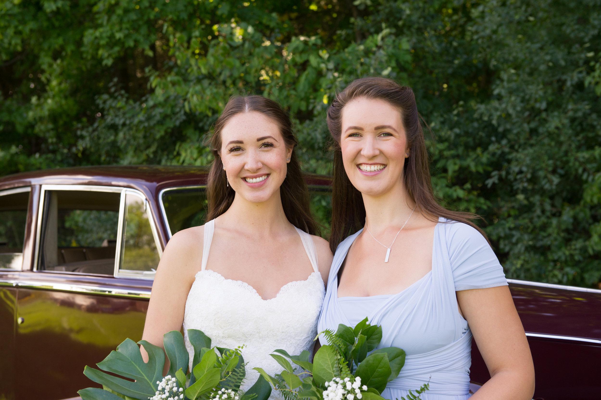 Sisters!  // Wedding photos by Karmel Kreative // Plant Based Bride