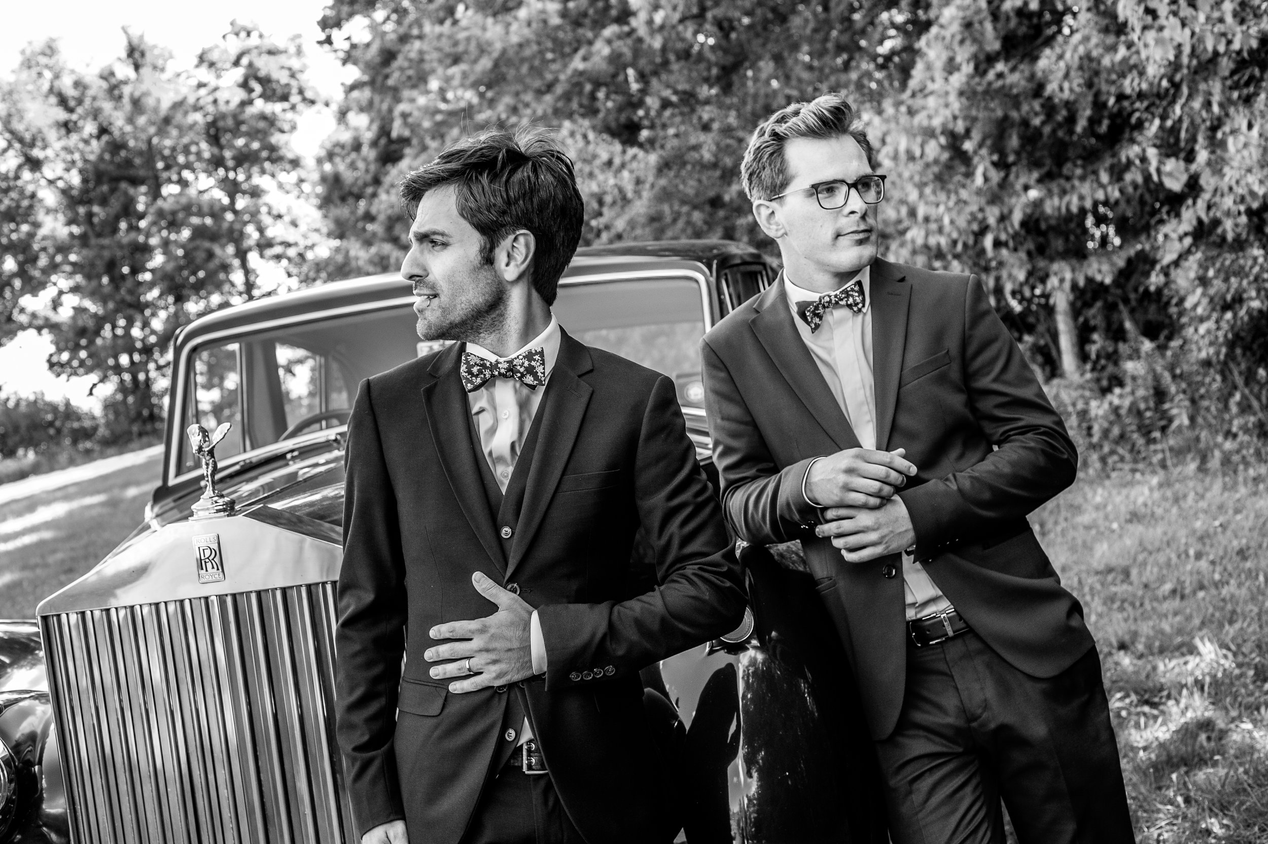 The groom and the best man. // Wedding photos by Karmel Kreative // Plant Based Bride
