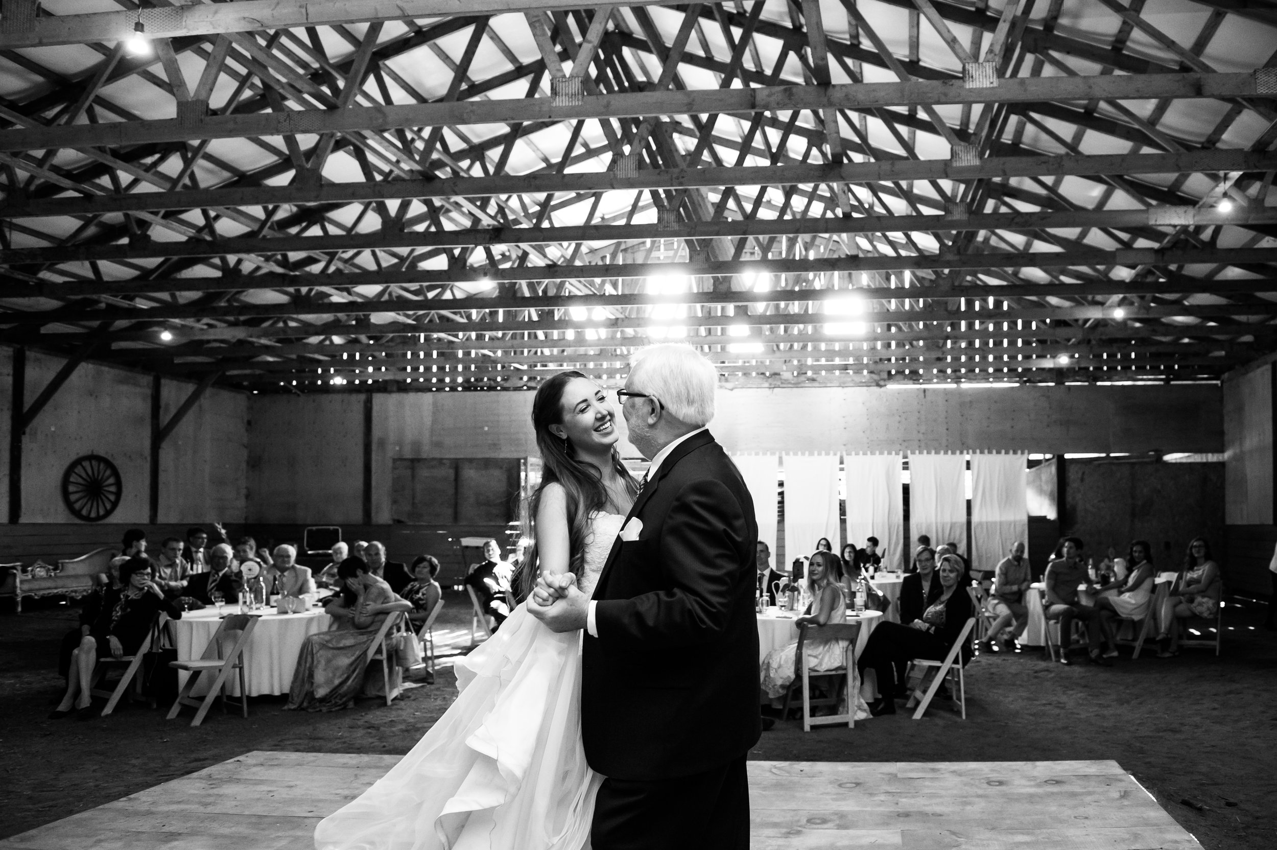 Father and daughter dance. // Wedding photos by Karmel Kreative // Plant Based Bride
