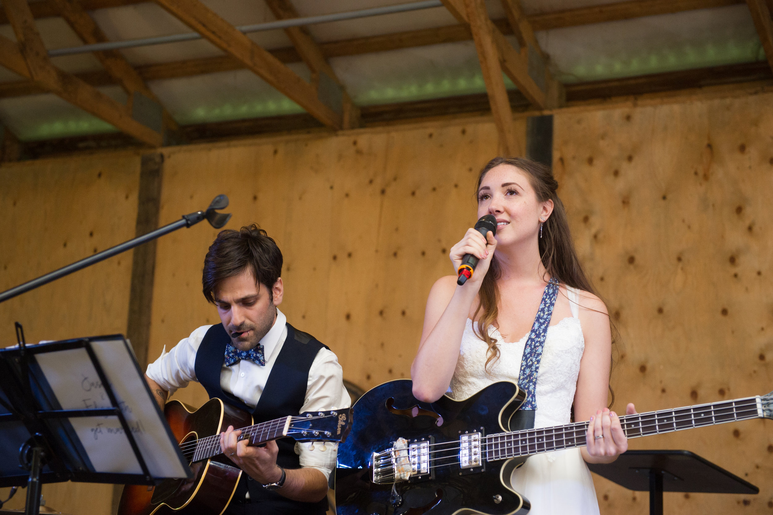 The bride and groom rock it out.  // Wedding photos by Karmel Kreative // Plant Based Bride
