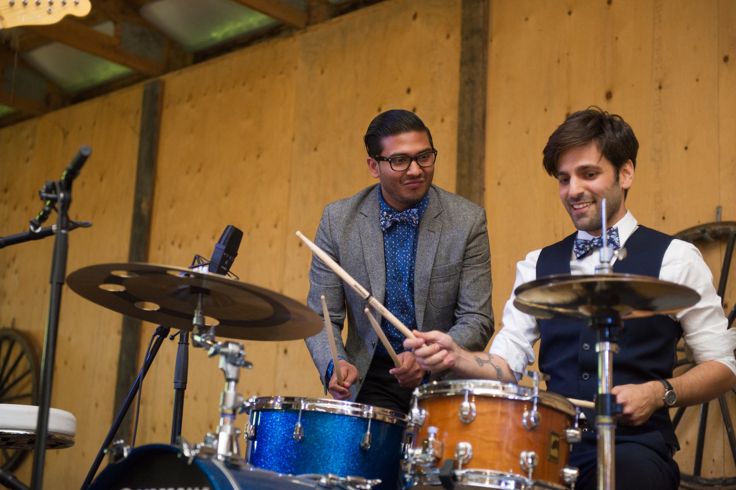 The drum section.  // Wedding photos by Karmel Kreative // Plant Based Bride