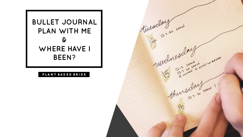 Bullet Journal Plan With Me March 2017 // Plant Based Bride