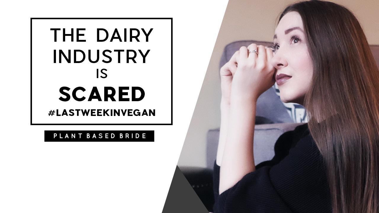 The Dairy Industry Is Scared #LastWeekInVegan // Plant Based Bride