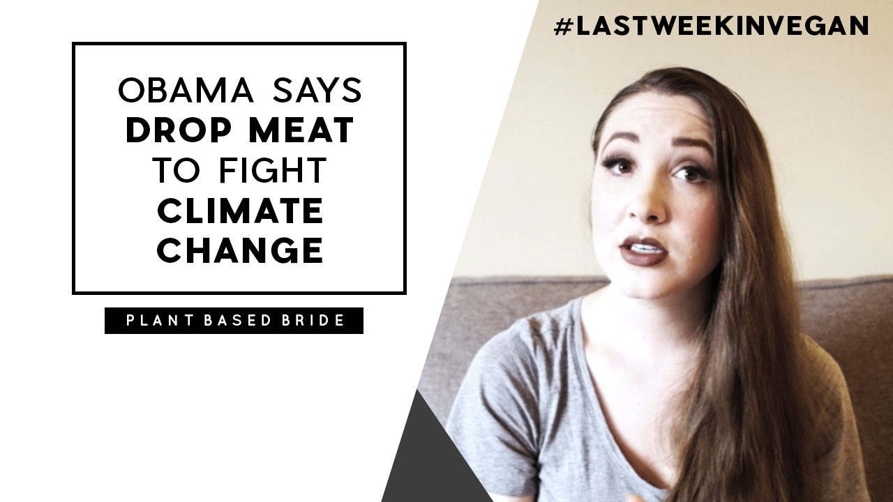 "Obama Says ""Drop Meat To Fight Climate Change"" #LastWeekInVegan"
