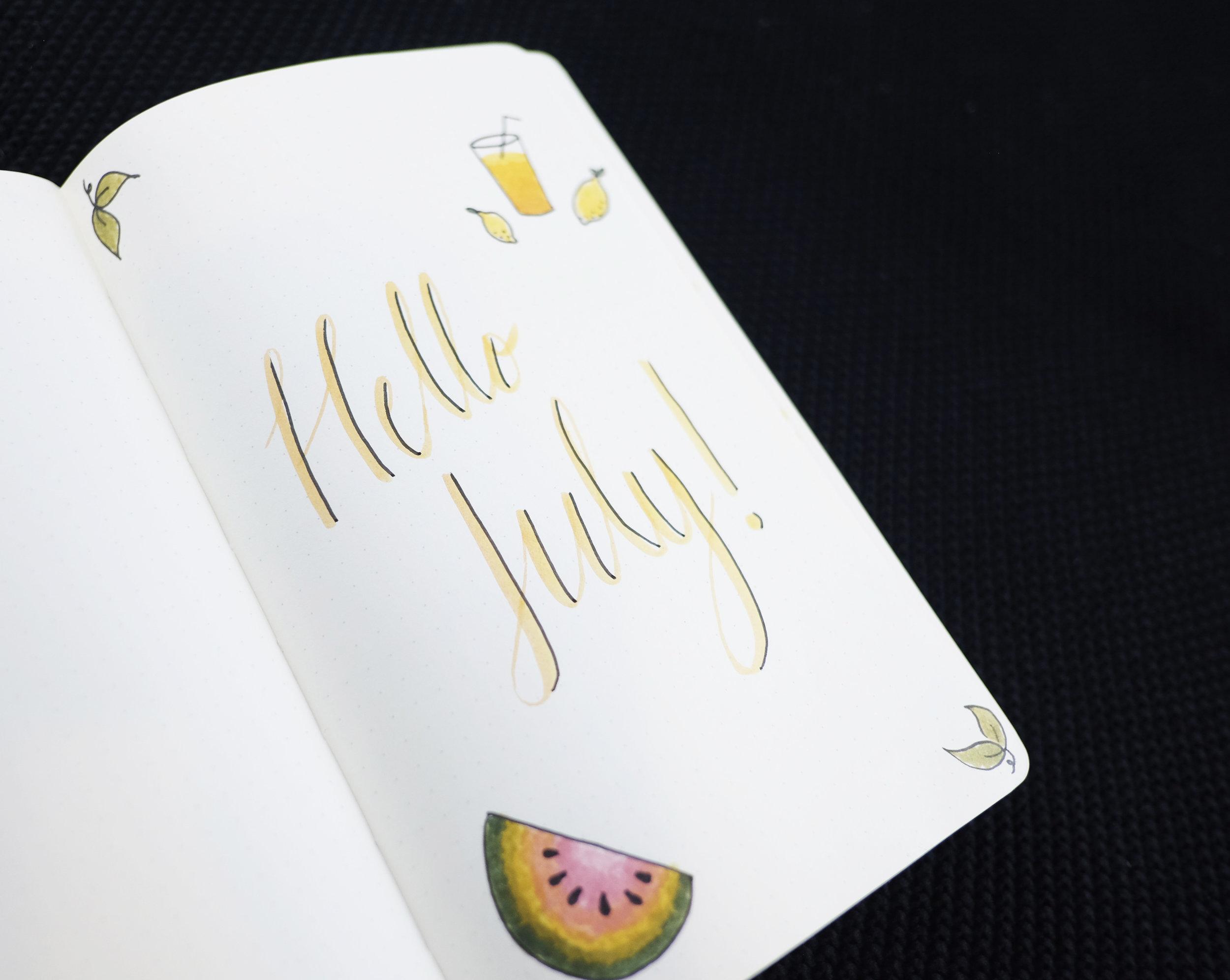Bullet Journal July 2017 // Plant Based Bride