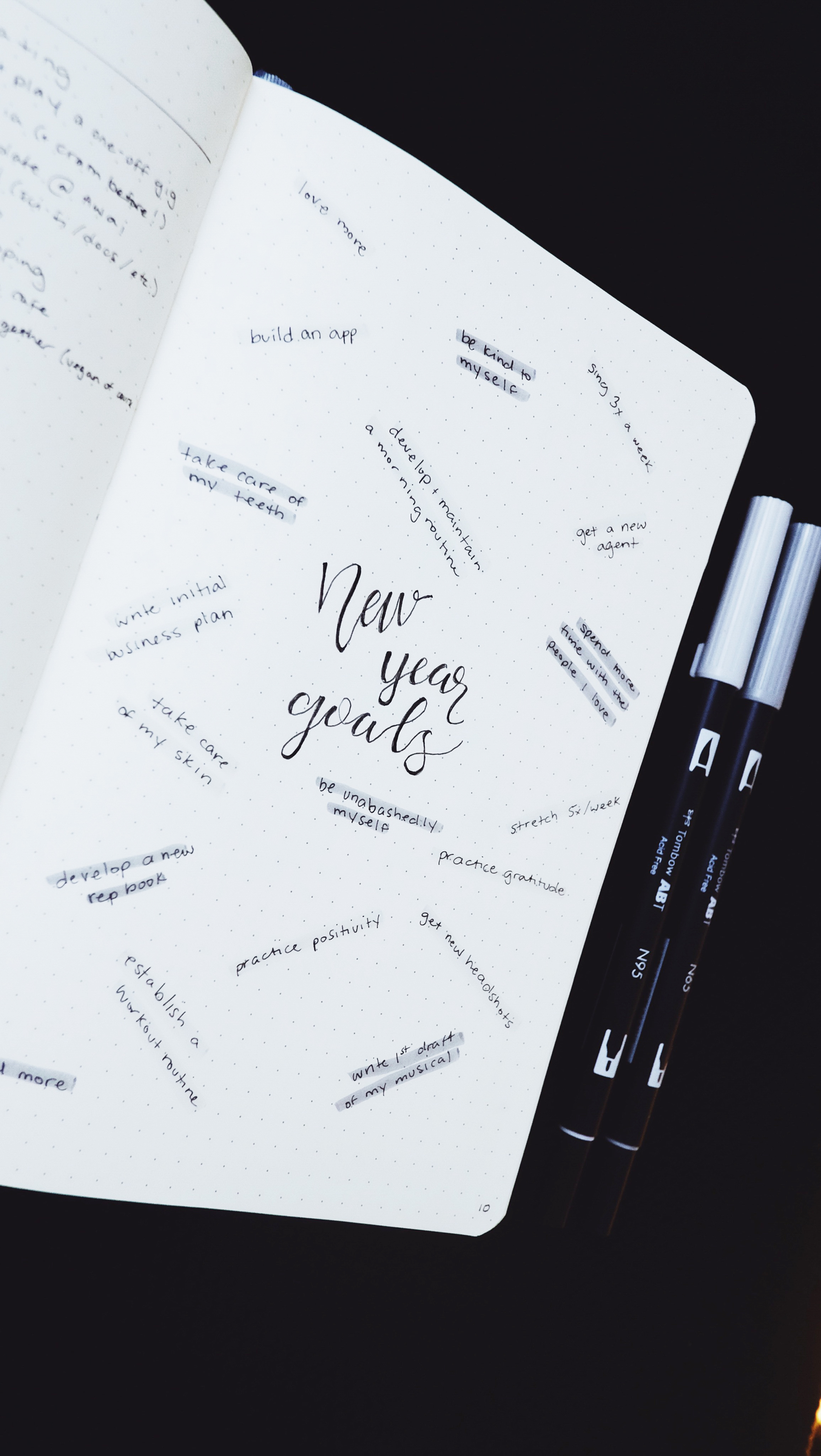New Year Goals 2018 Bullet Journal // Plant Based Bride