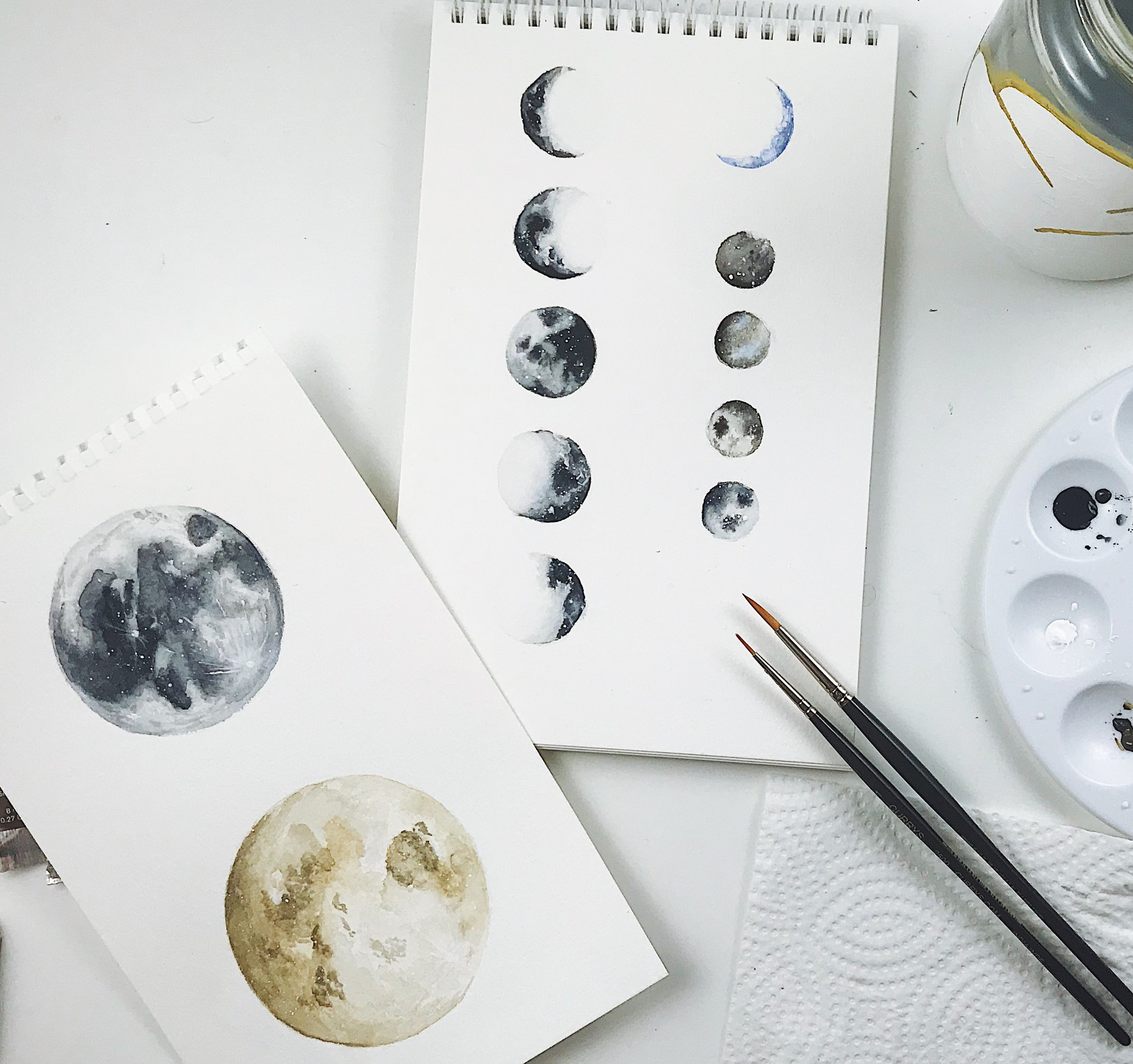 Watercolour Moons // Plant Based Bride