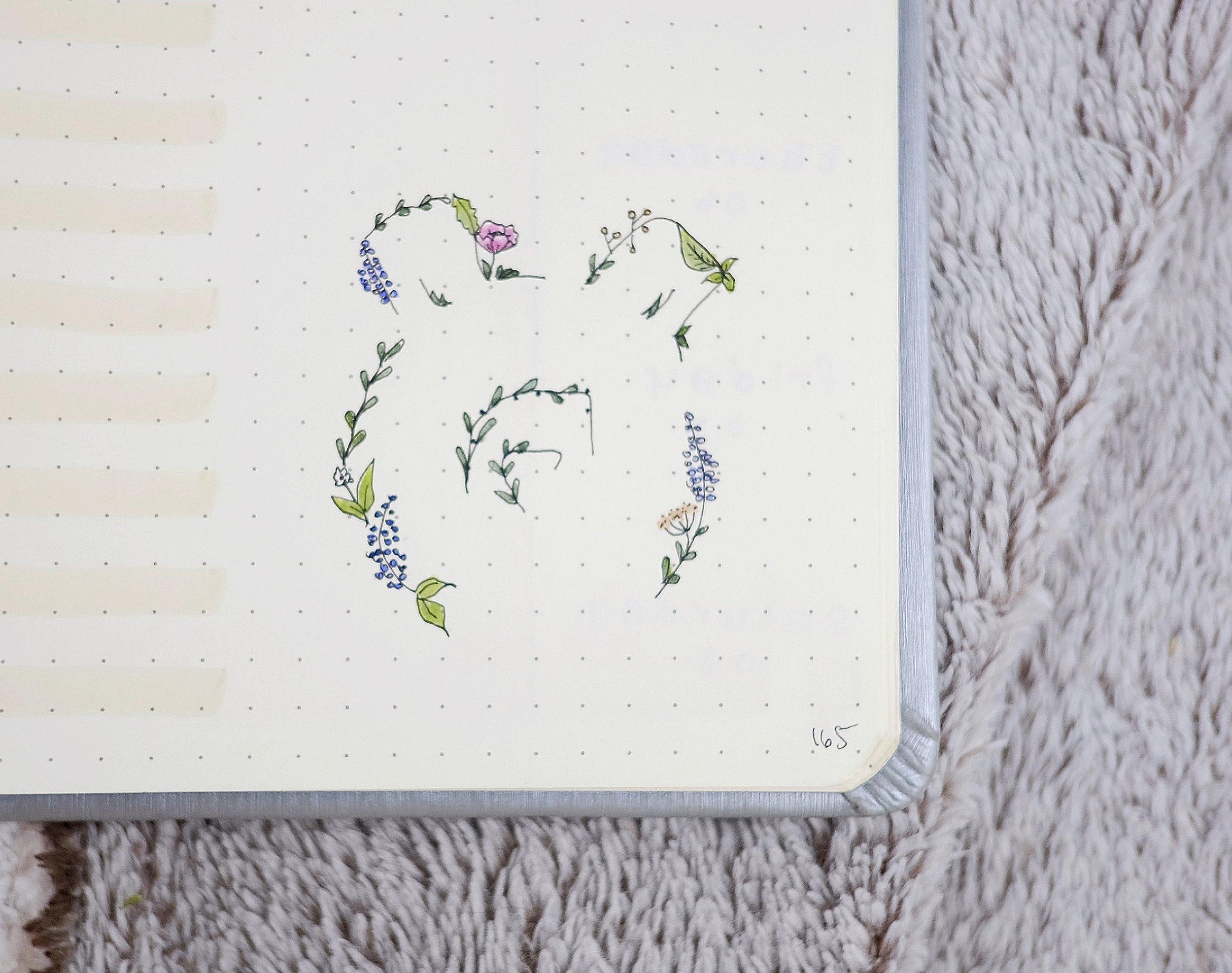 Wildflower Bear Silhouette // Plant Based Bride