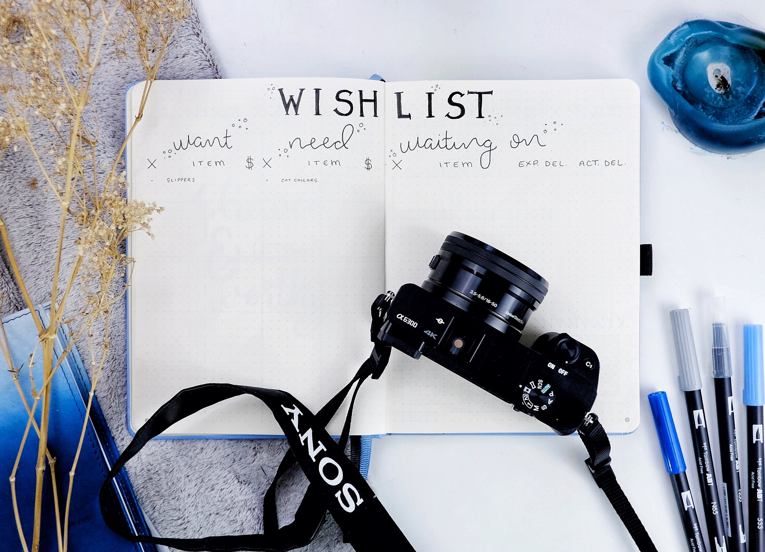 Wishlist in my Bullet Journal: Want/Need/Waiting On // New BuJo Set Up 2018 // Plant Based Bride