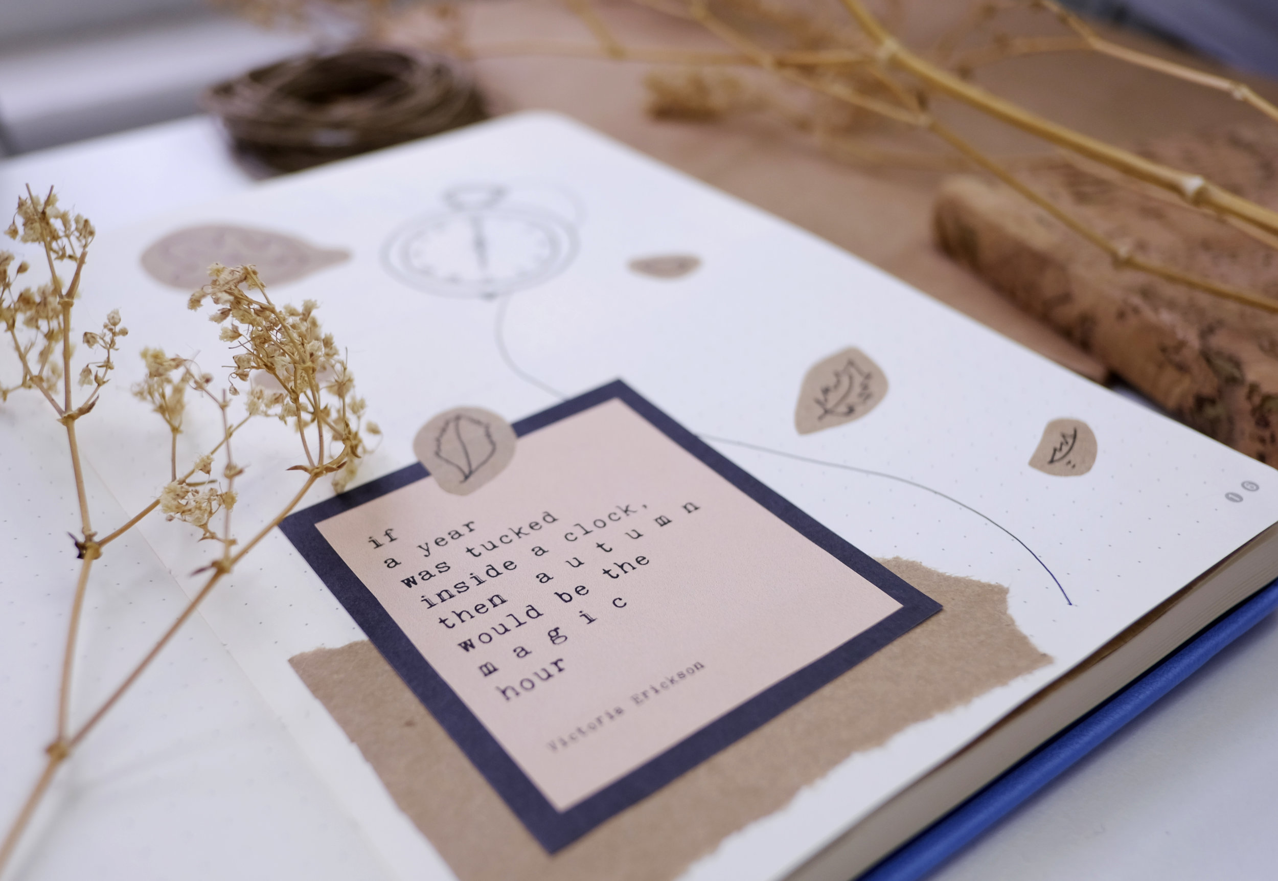 If a year was tucked inside a clock, then autumn would be the magic hour - victoria erickson // fall bullet journal // october bujo // Plant Based Bride