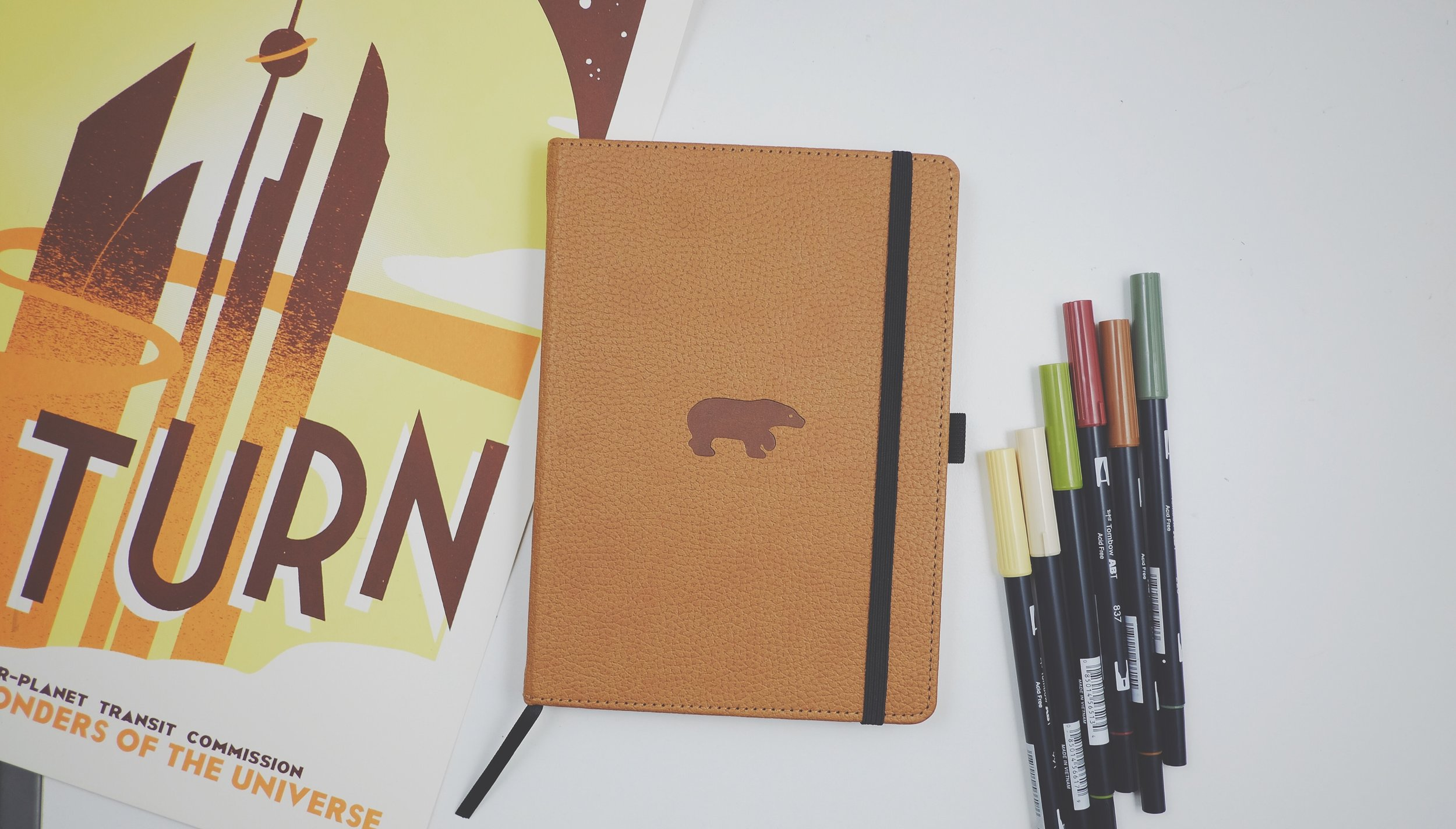 Dingbats* Wildlife Medium A5+ Hardcover Notebook Brown Bear