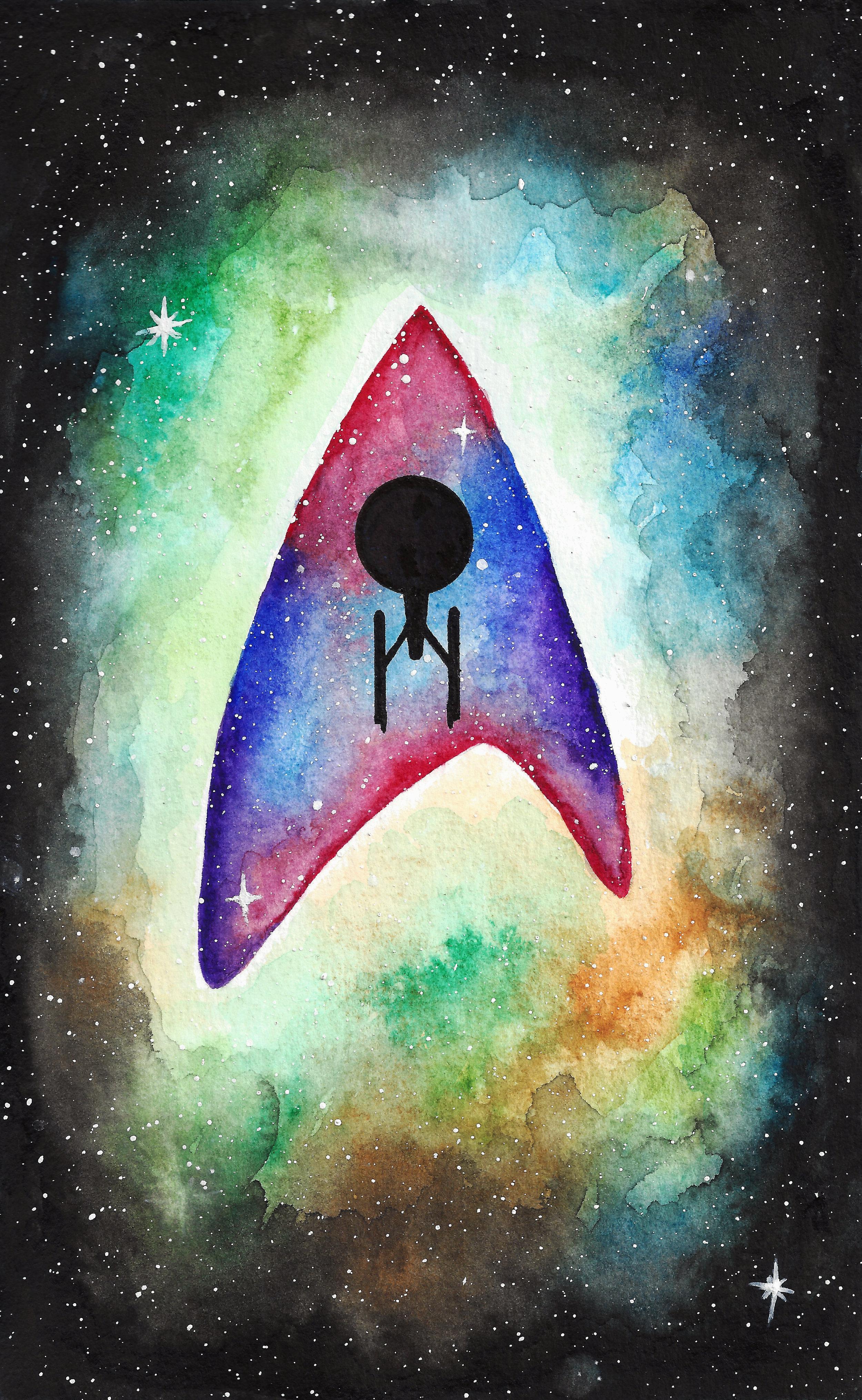 Star Trek Watercolour Painting // Plant Based Bride