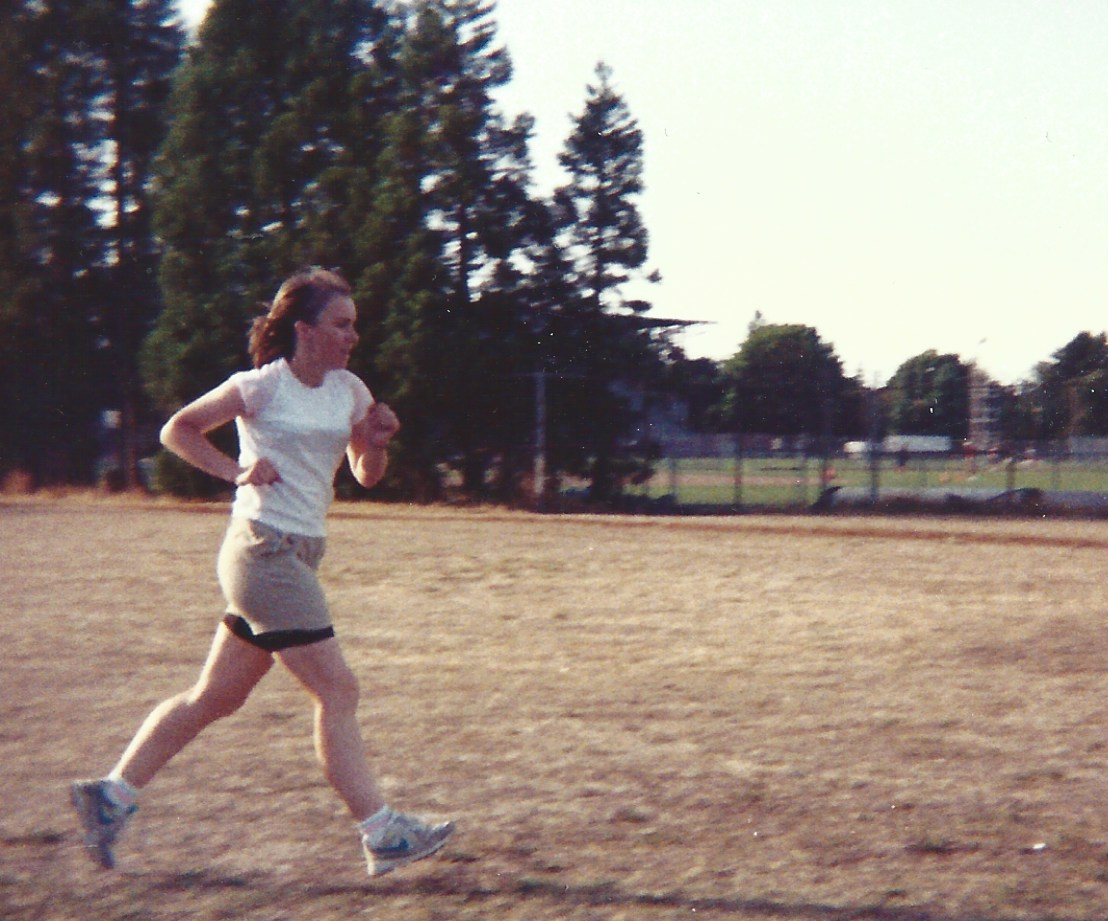 Candi trains for the Bush Park Cross-Country Meet.