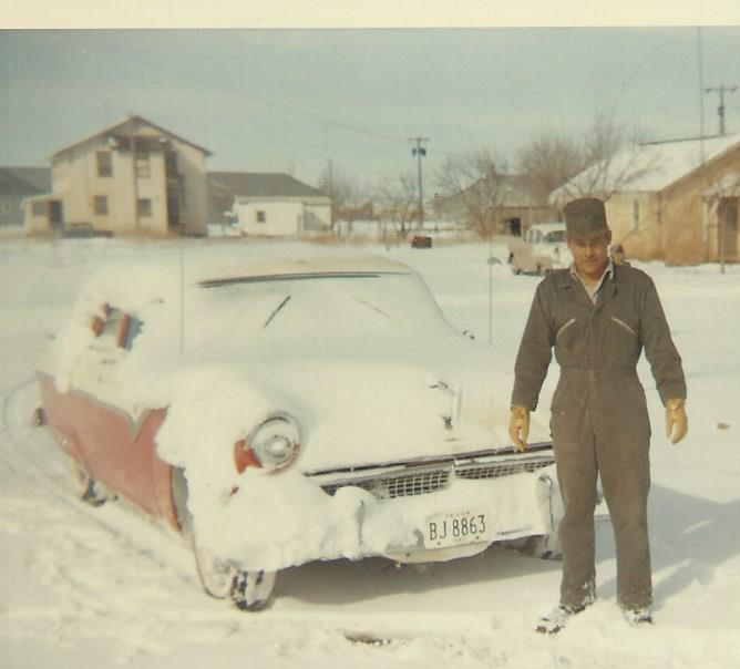 Dad with his Ford.