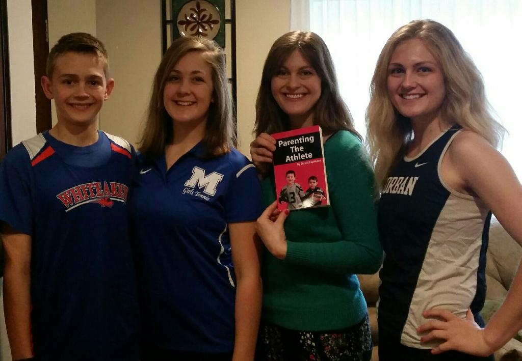 """2017 The Guptills with their book, """"Parenting The Athlete"""""""