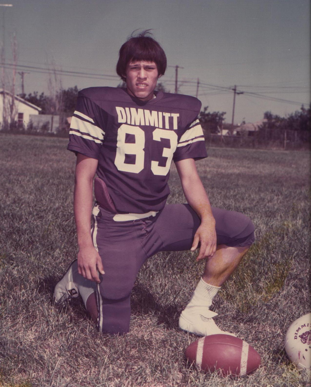 David Espinoza - Sophomore Bobcat during the 1975-76 Season in Dimmitt, Texas.