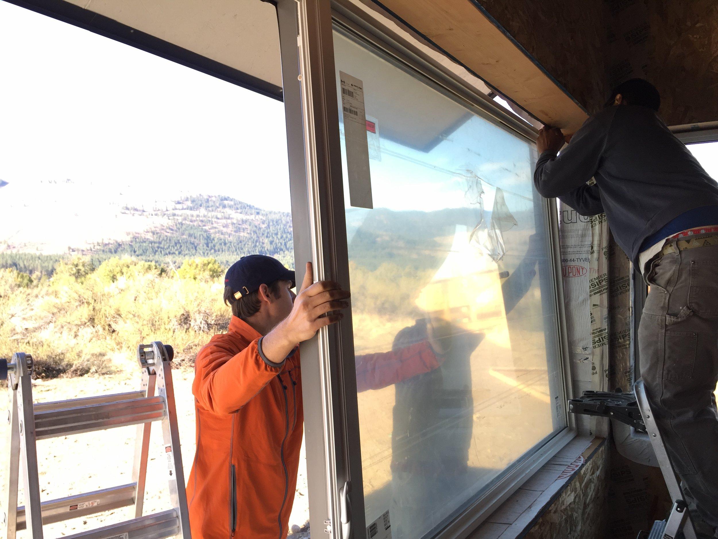 Installing the final window after a long saga!