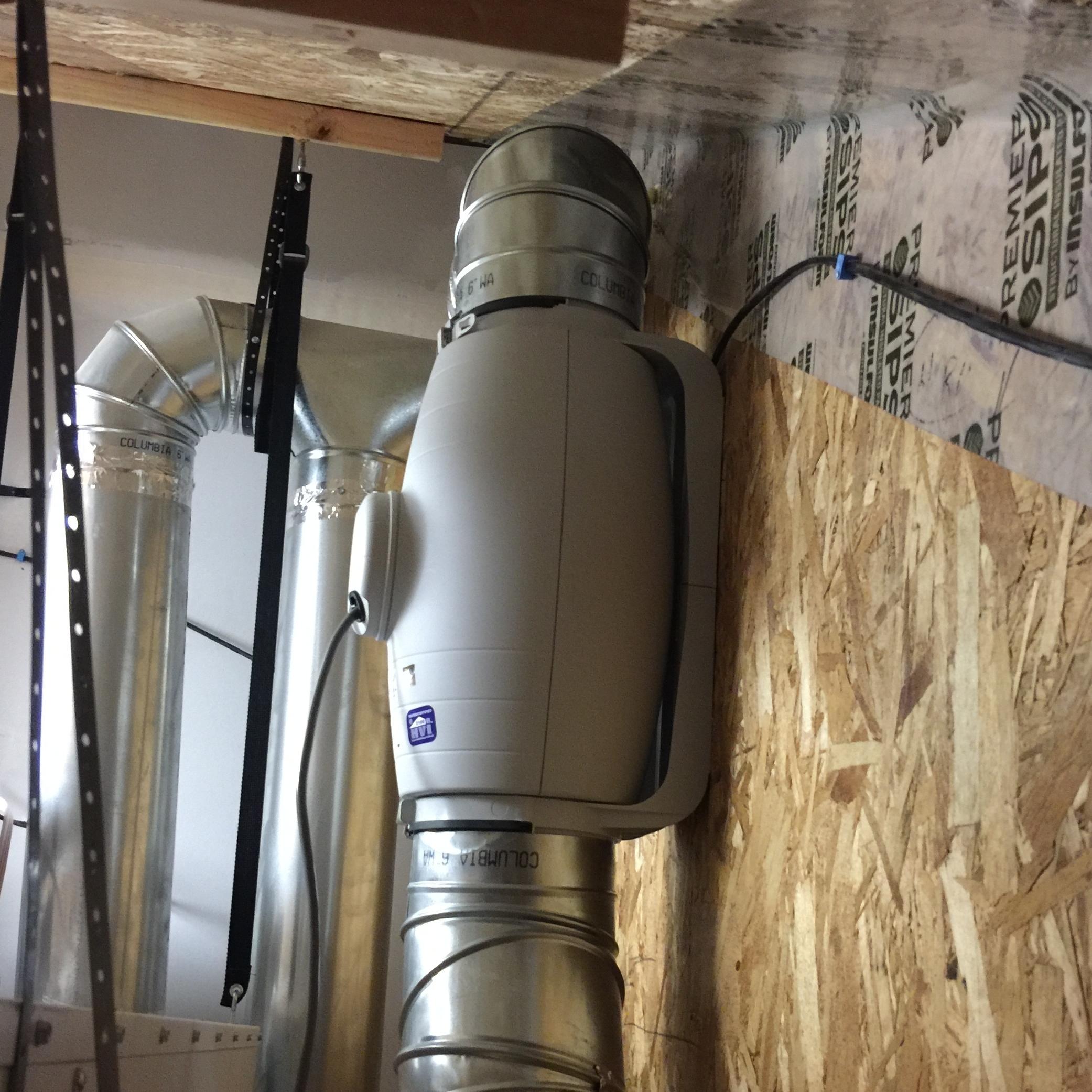 Our super-quite S&P Silent Series exhaust fan.
