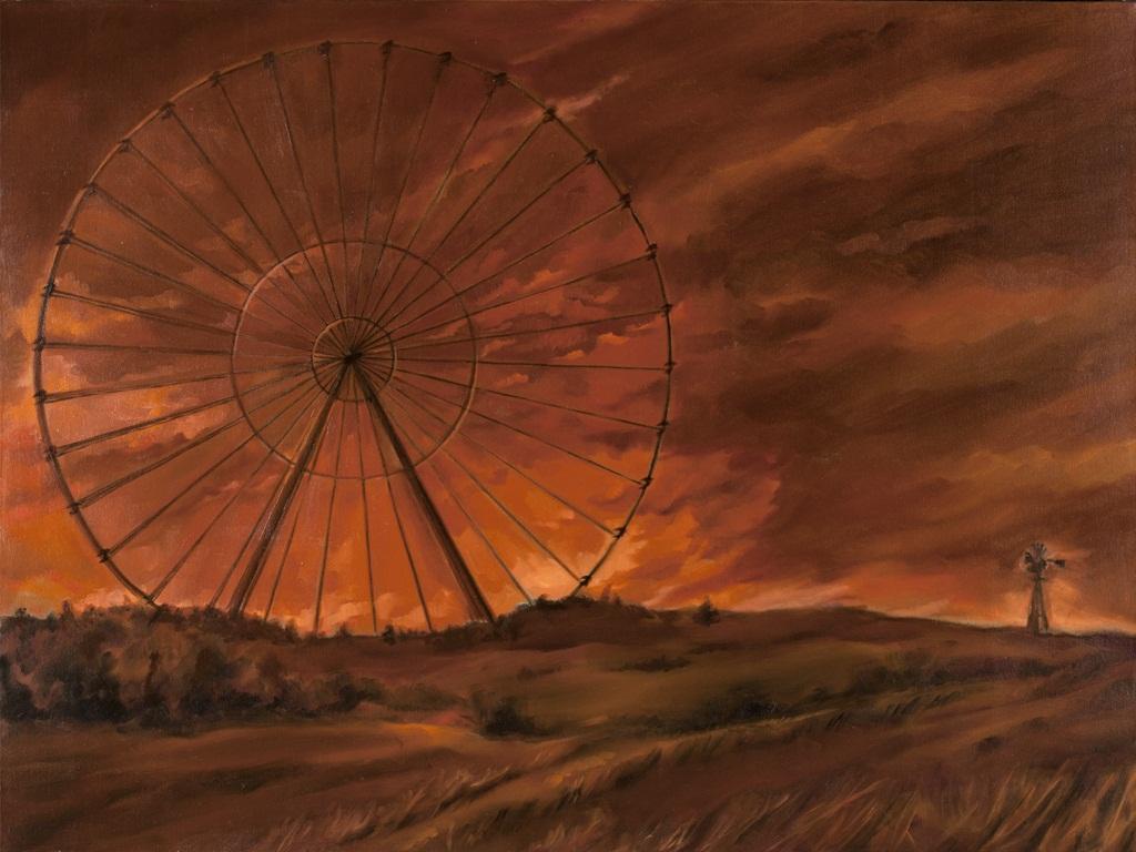 "Circle in the Sky (One Last Turn)  o/c  30"" x 40"""