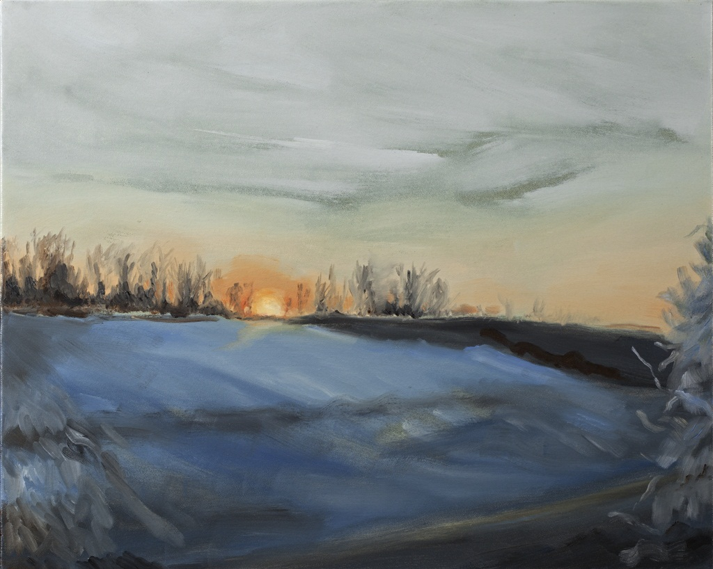 """An Unexpected Grace, A Harbinger of Hope o/c  16"""" x 20"""""""