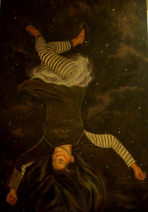 "Falling Star  o/c  72"" x 48"""