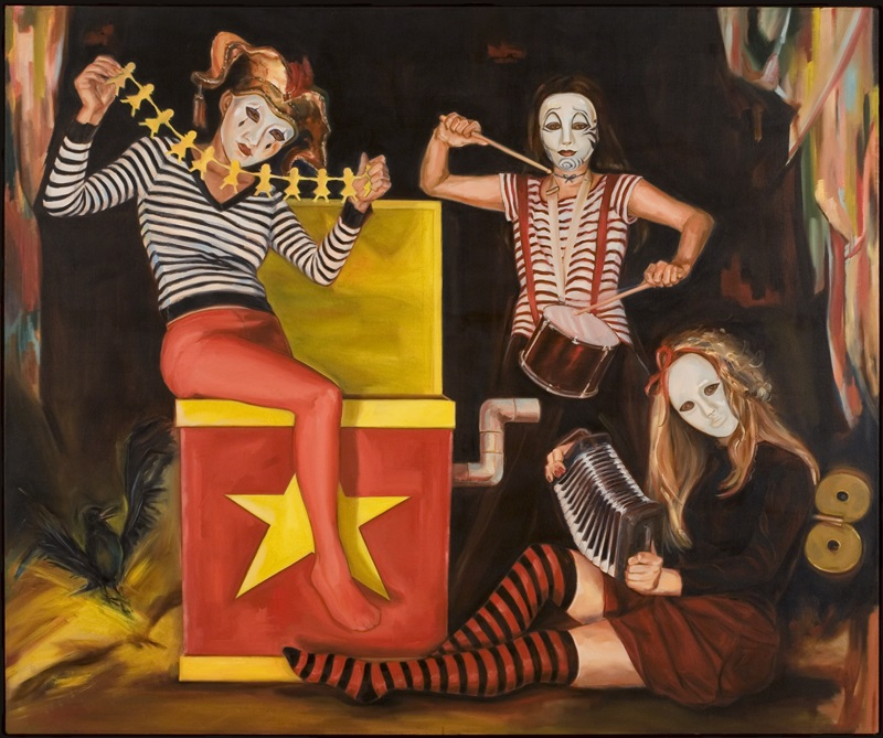 "Portrait of the Band (Guardians of the Masquerade) o/c    60"" x 72"""
