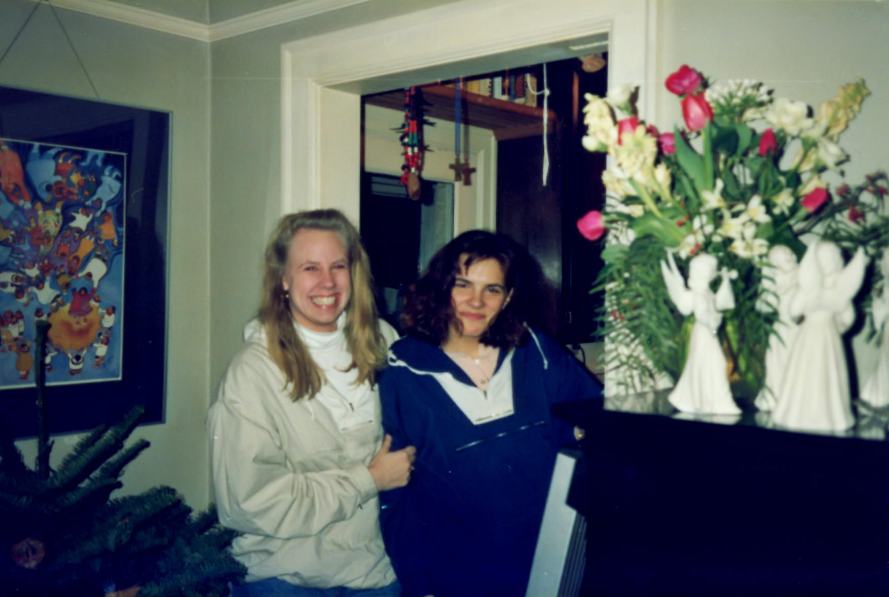 me and erin, a random shot, december junior year (1990)