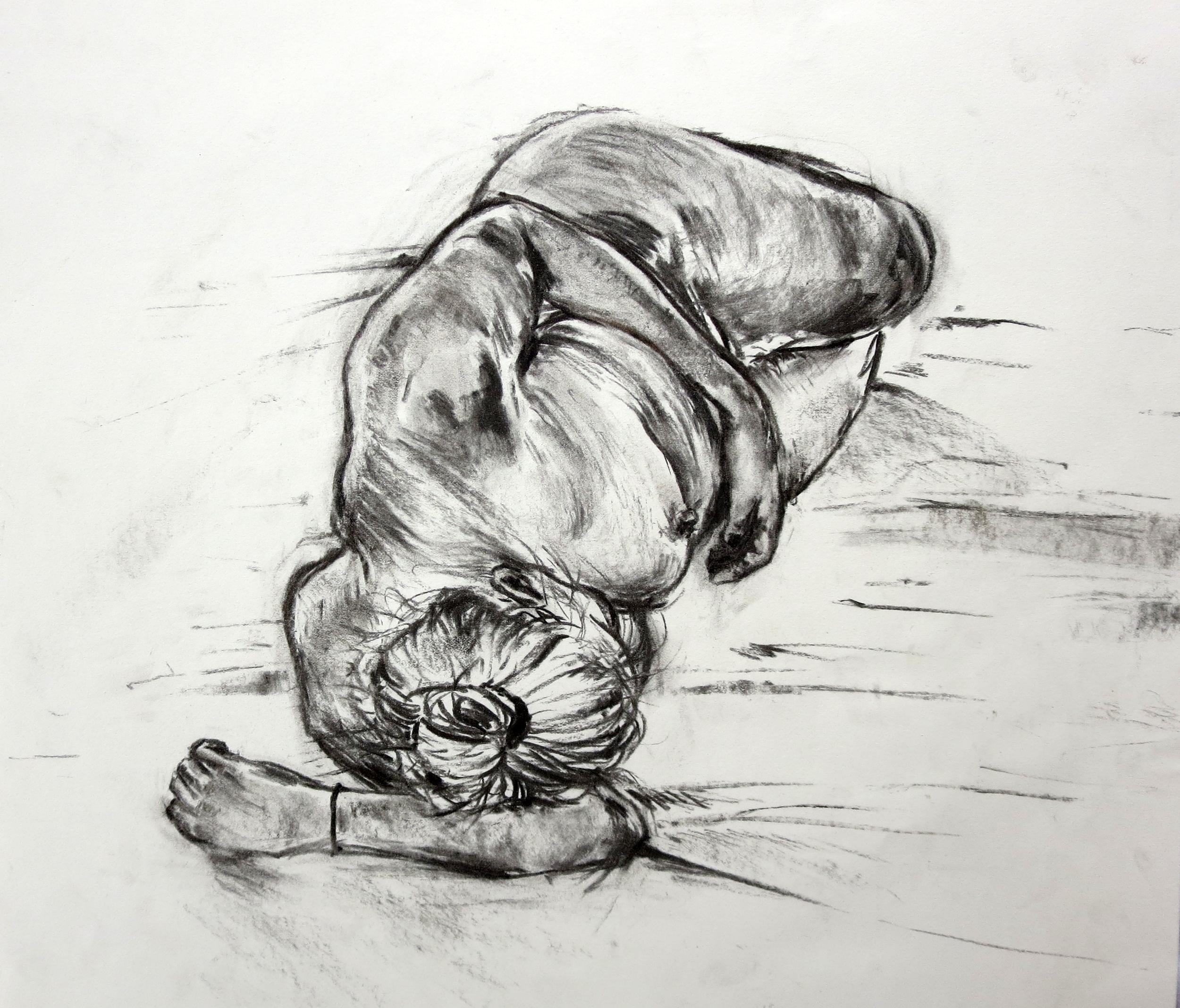 figure drawing study charcoal  ~20 mins  2014