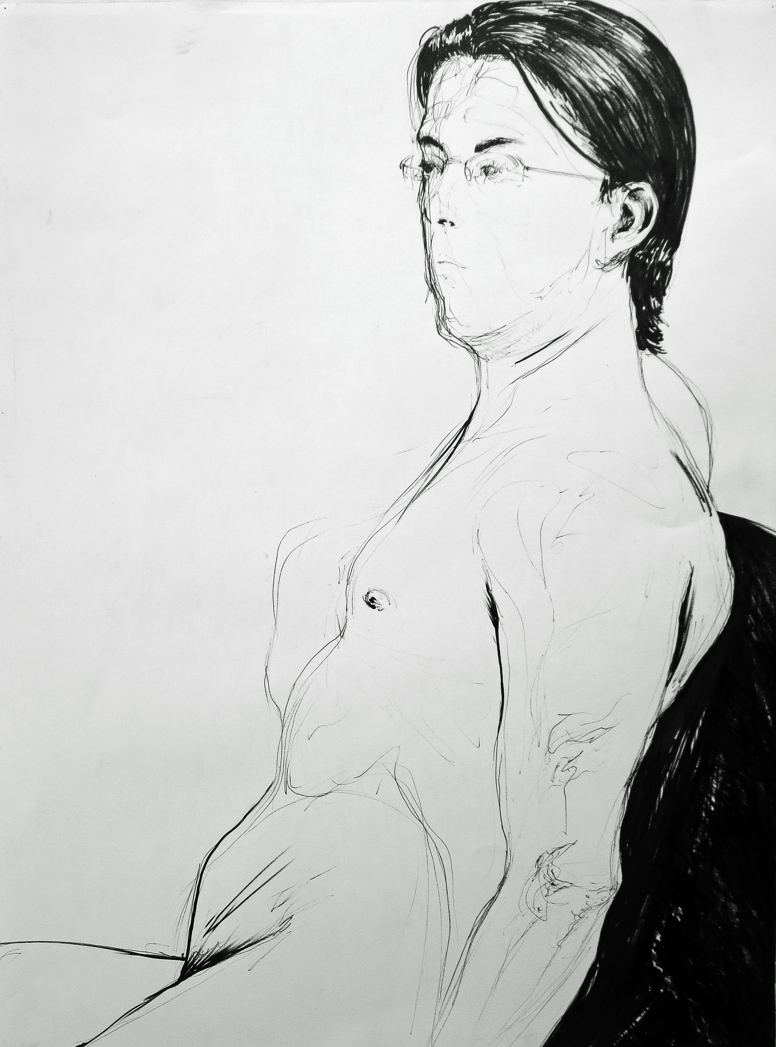 figure drawing study sharpie  2014