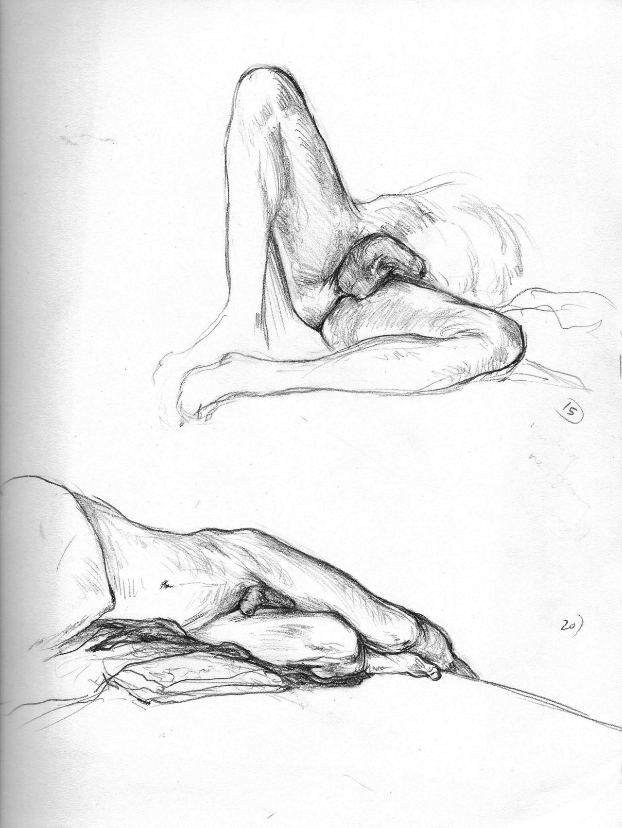 figure drawing study  15 & 20 min  2014