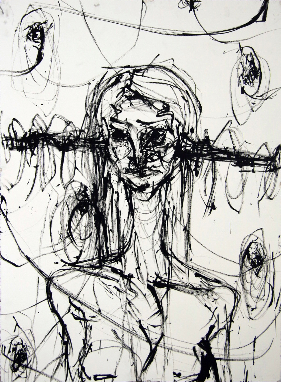 String and Ink 18 x 24 inch  For Sale - $40  2012
