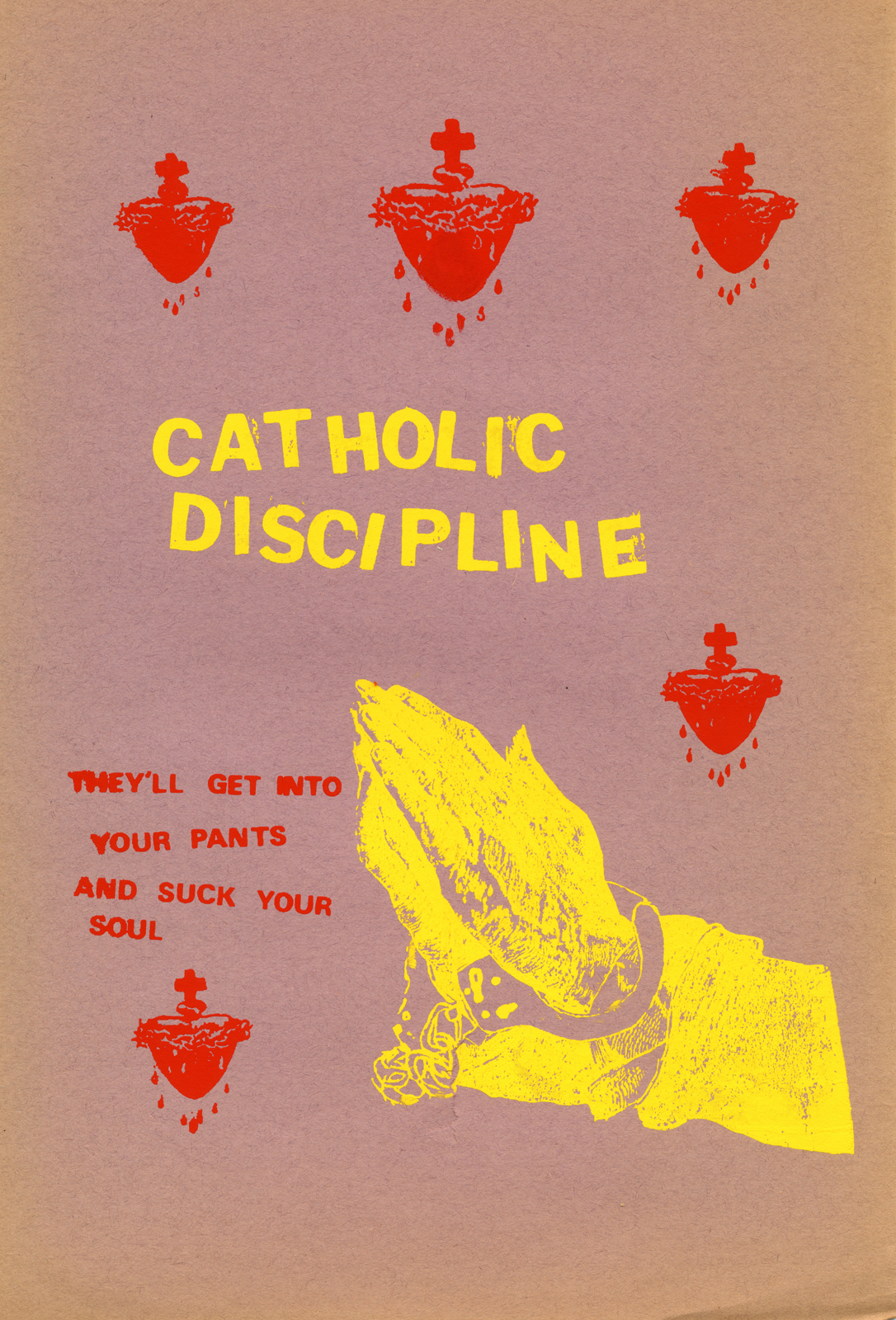 Catholic Discipline Poster – Hand Screened.