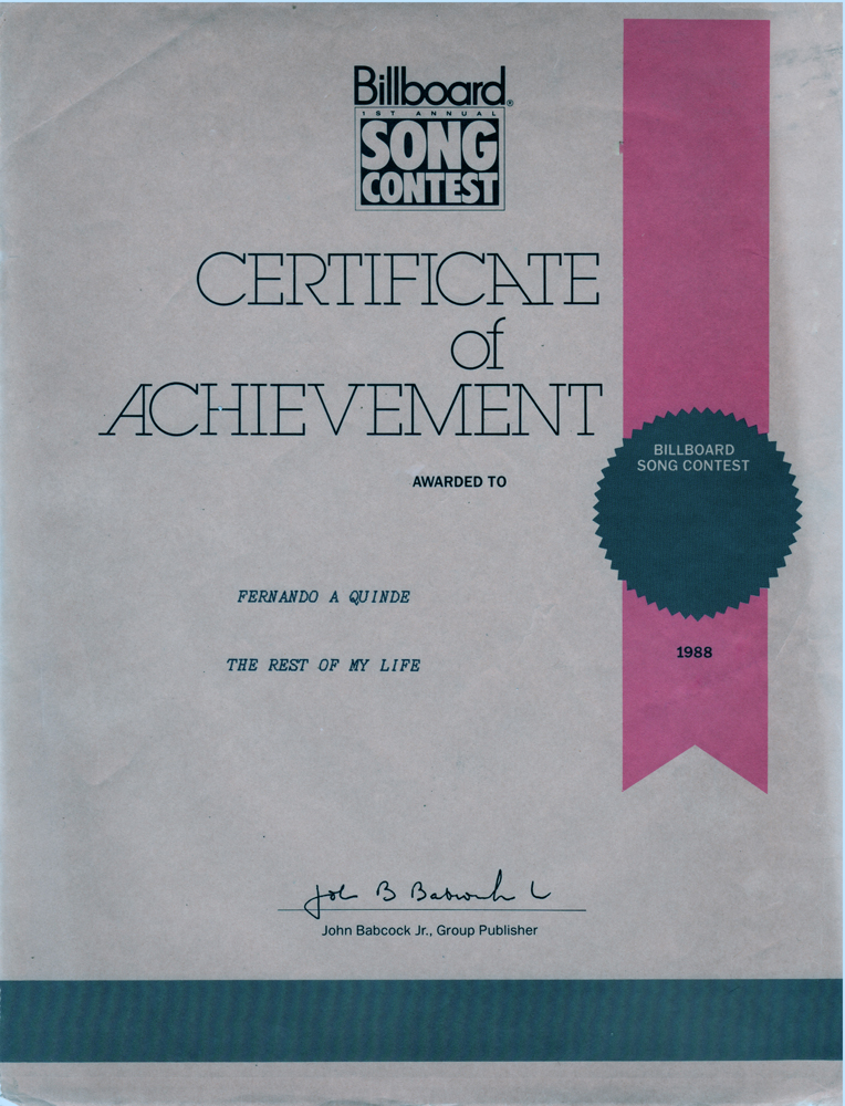 Certificate of Achievement Songwriter award.jpg
