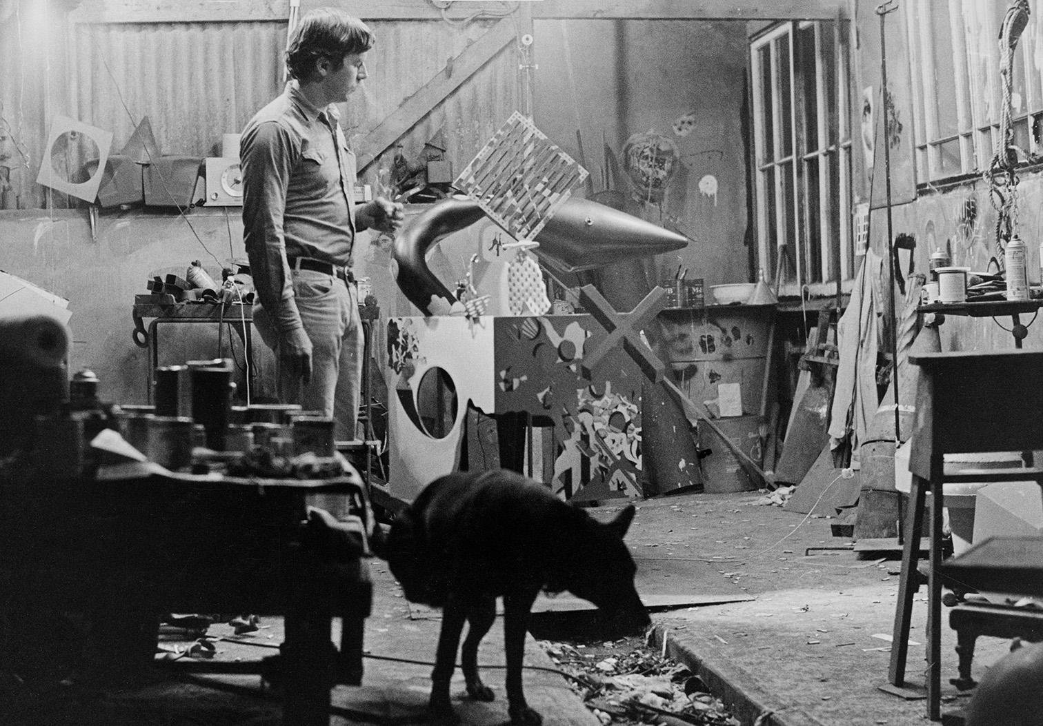 Hudson with Boots in Stinson Beach studio 1963