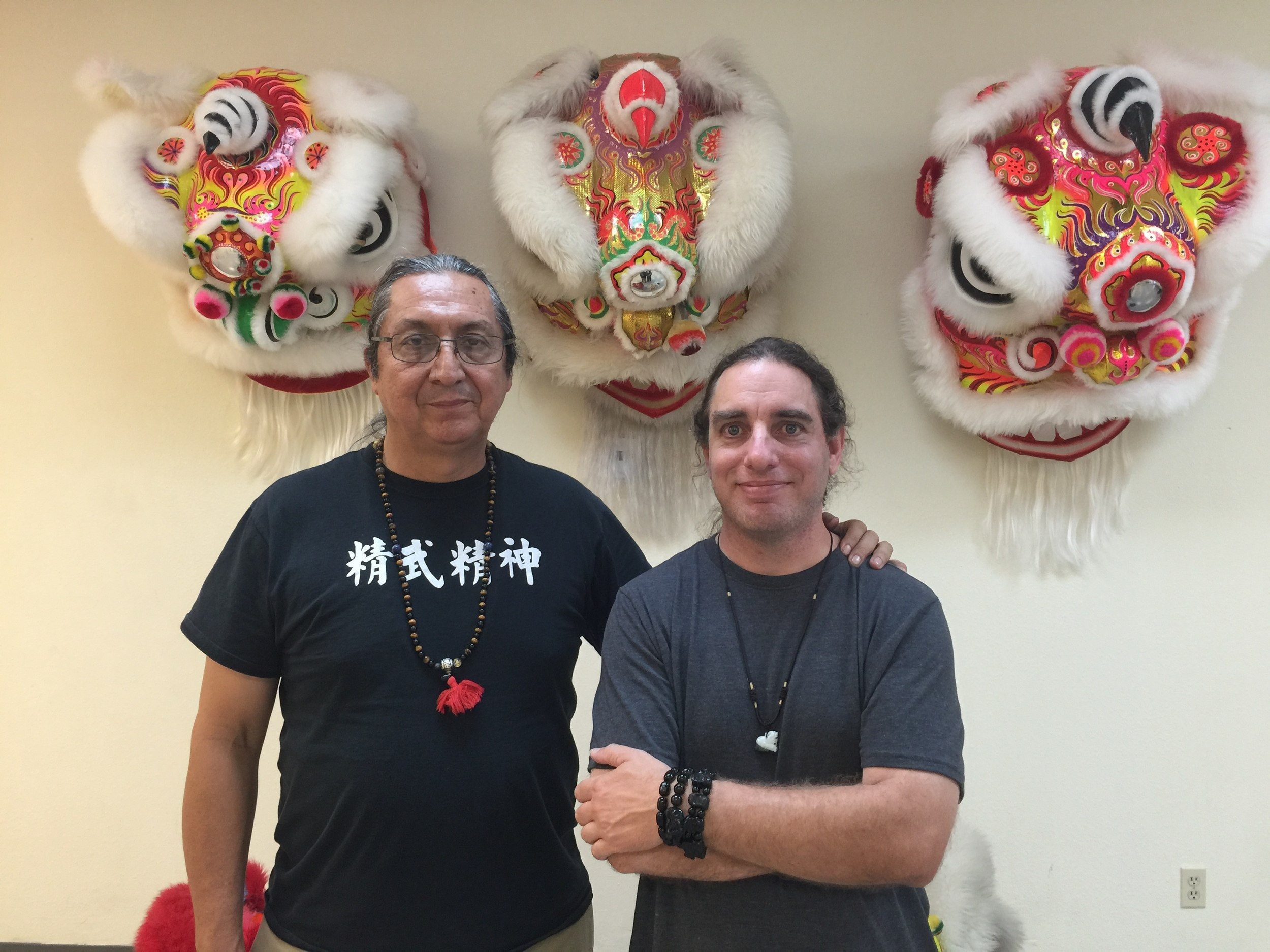 Grand Master Steven Baugh and Sifu Jeremy Hector. Over the past few years with a number of prominent shows offered for lion dance, Sifu Hector wanted to up his game in that area, so he sought out a more traditional approach; thus, he and his students trained with Grand Master Steven Baugh of the Lohan School of Shaolin in Las Vegas. Lion's Pride now brings that traditional training to Southern California for instruction and performance.