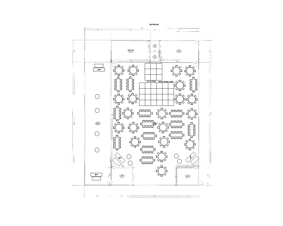 300 Guests Reception Layout