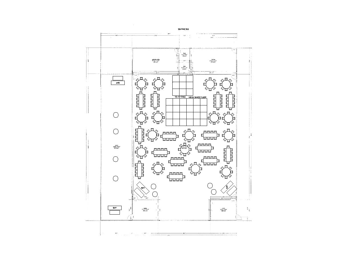 268 Guests Reception Layout