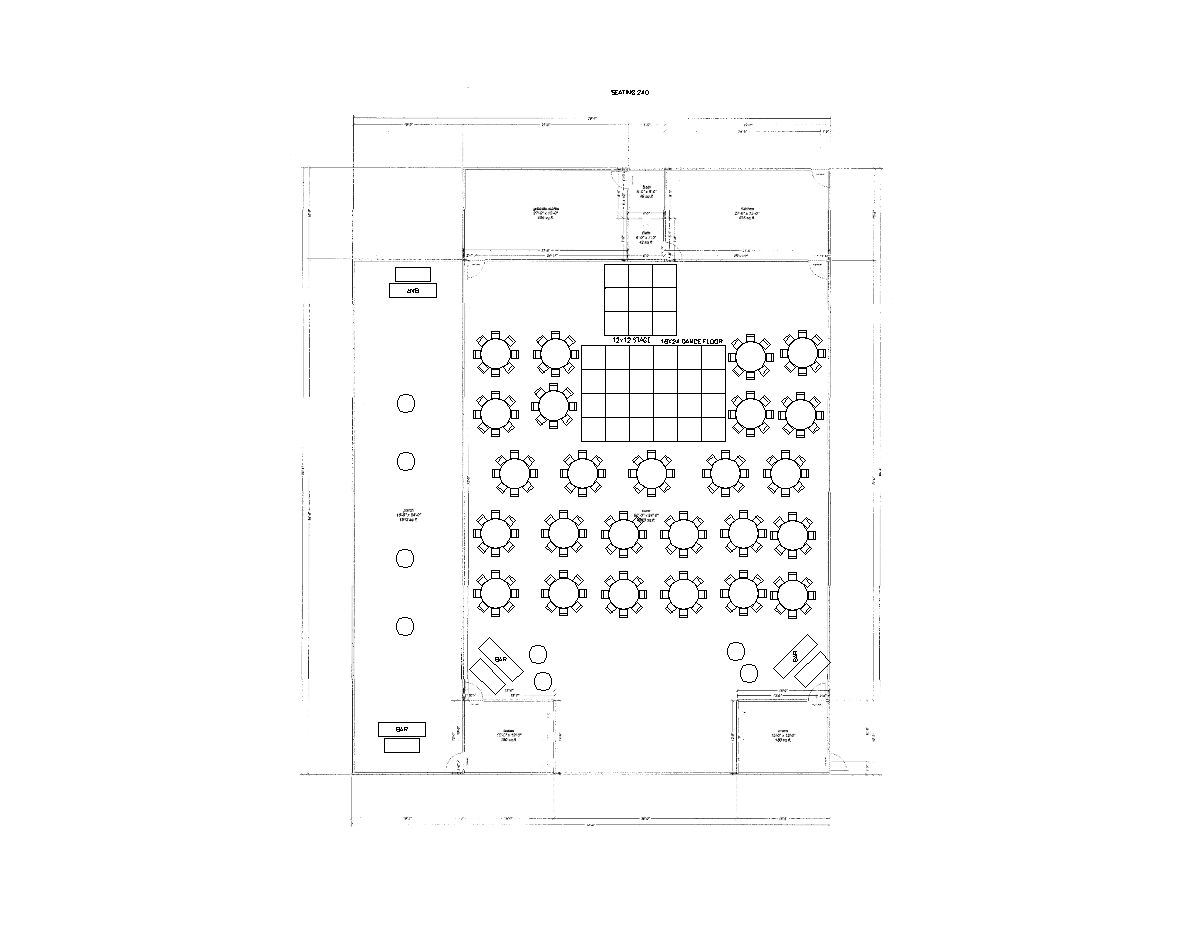200 Guests Reception Layout