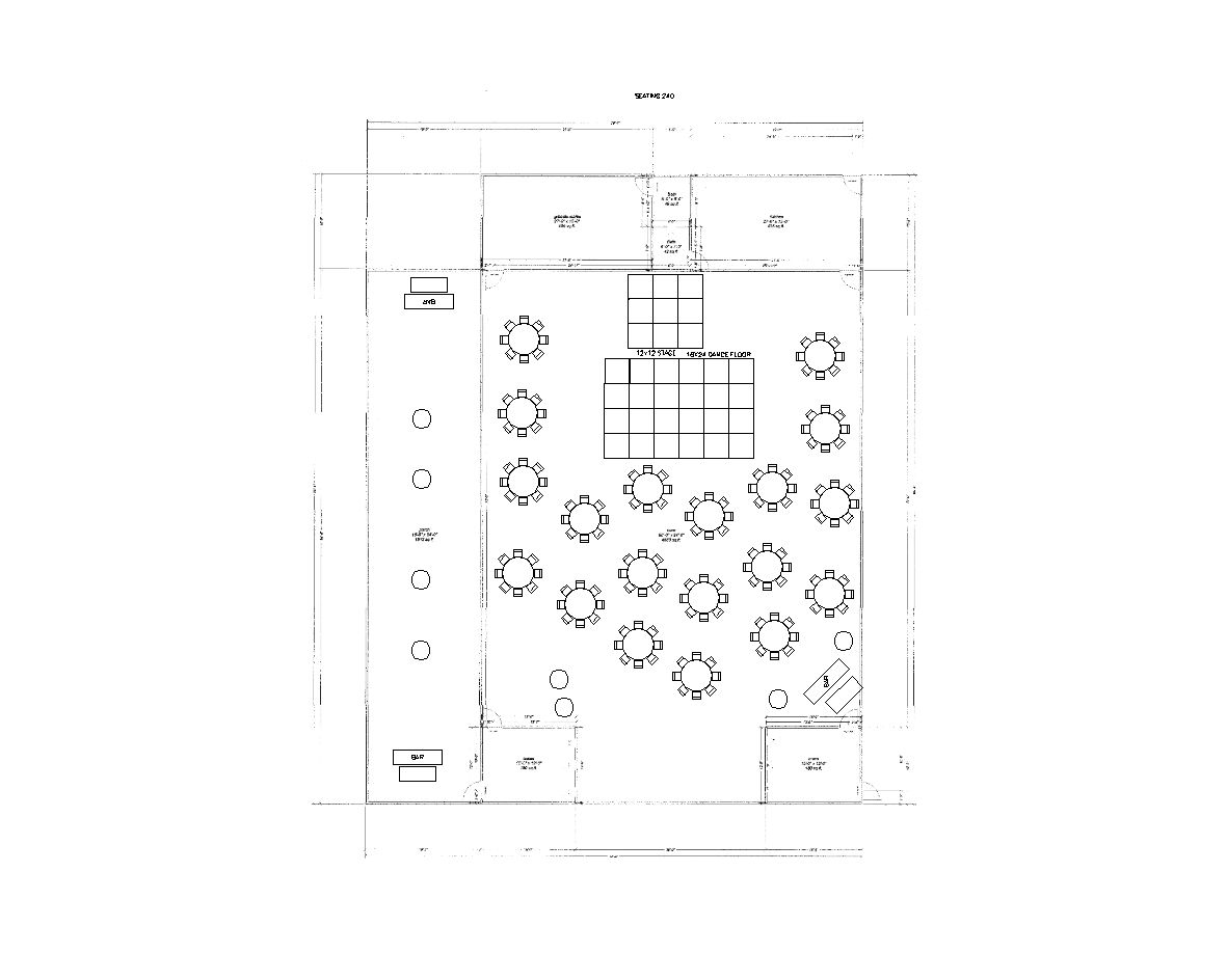 152 Guests Reception Layout