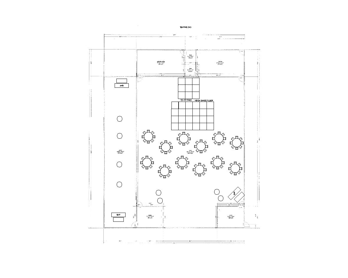 100 Guests Reception Layout