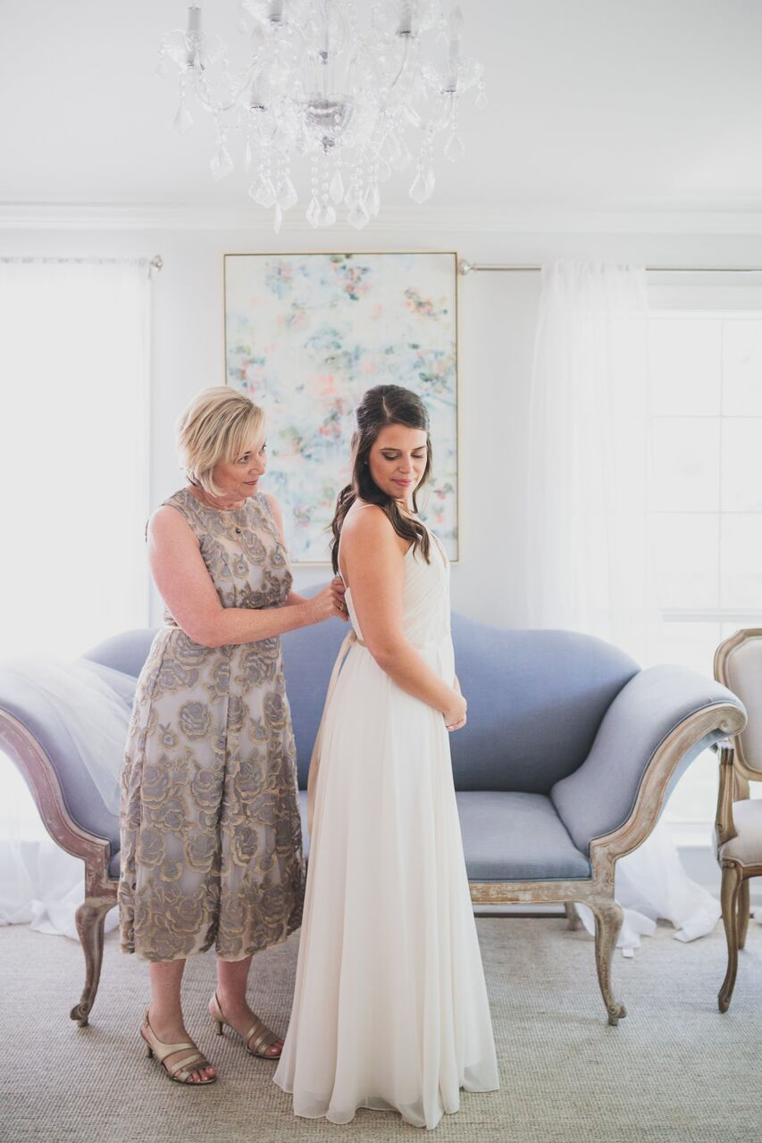 Allison and her mother getting ready in  The Addison Grove bridal suite!
