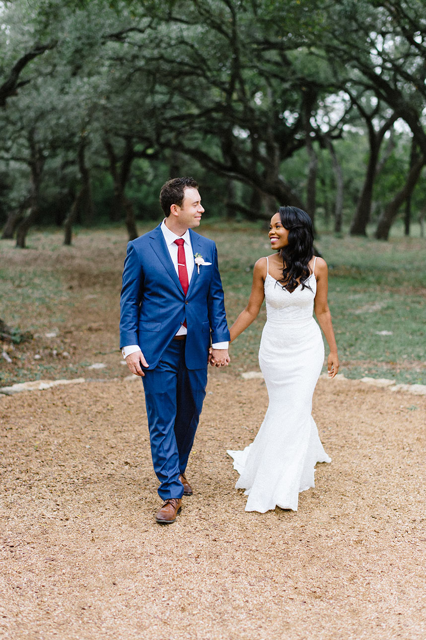 Brides Of Austin :  Erica Johnson Weds Titus Ruscitti | Burgundy Boho Austin Wedding