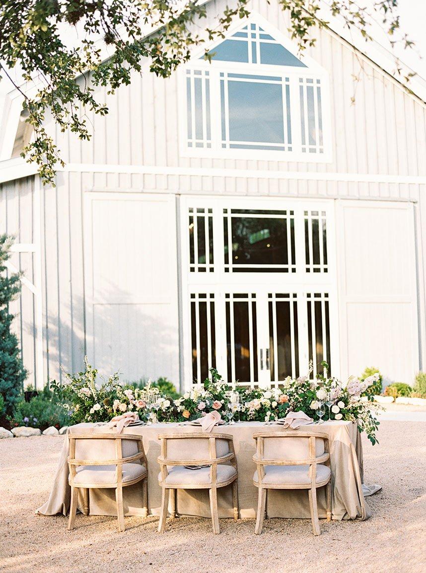 Brides of Austin    Elegant Garden Tablescape Design from Mayhar Design