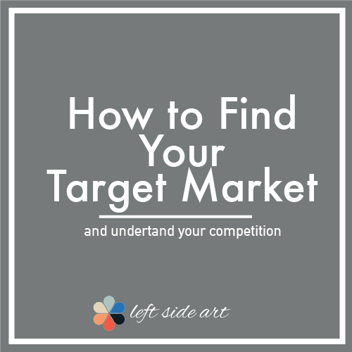 How to Find Your Target Market for Creatives - left side art