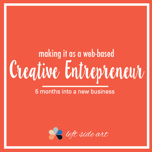 Making it as a web-based Creative Entrepreneur - left side art