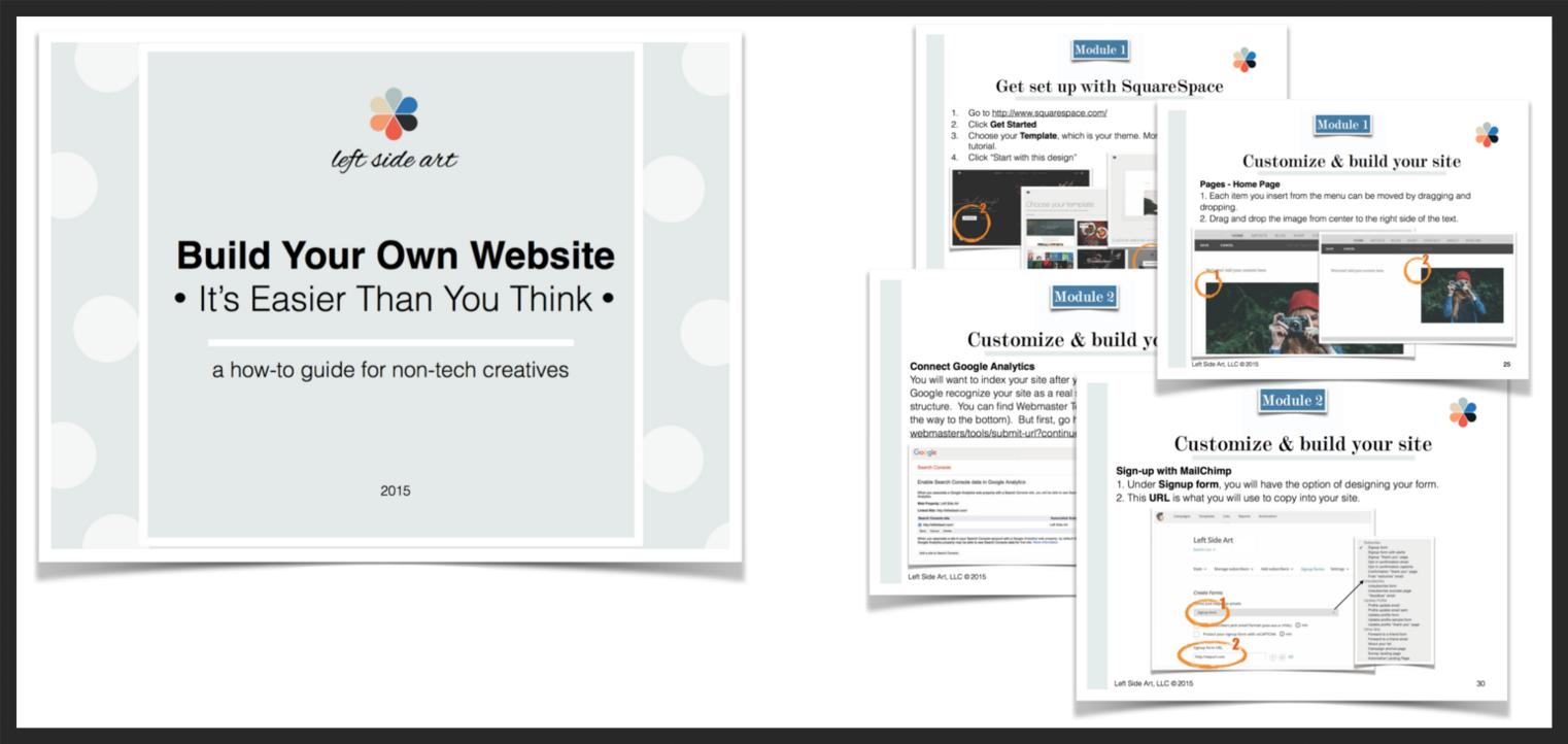 Build Your Own Website - left side art