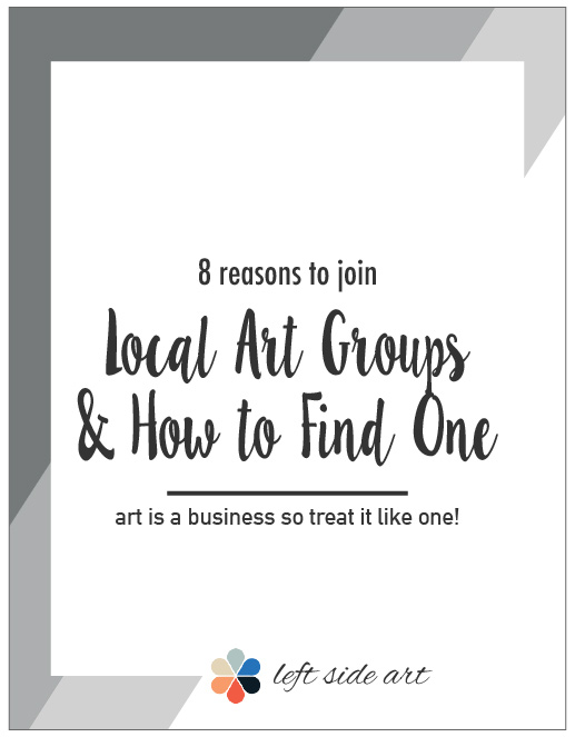 8 Reasons to Join a Local Art Group, and How to Find One - left side art