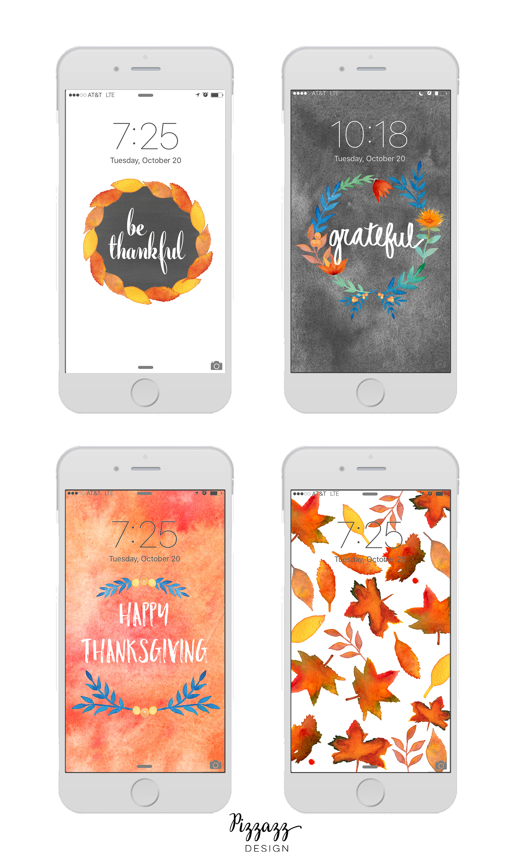 Free Seasonal Thanksgiving iPhone Wallpapers! Pizzazz Design Blog