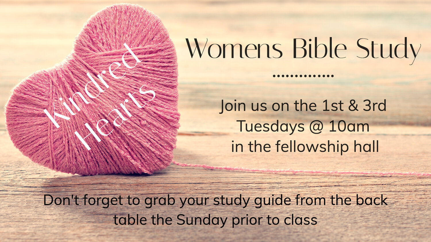 Kindred Hearts would like to invite you to join us. We are seasoned joy divas sharing the Word. We have topical studies with the goal of applying the teaching to our lives. Always good coffee, snacks and conversation. We meet at the GCC Fellowship Hall the first and third Tuesdays of the month at 10:00-11:00am. For more information call Dondra at (530) 885-0942 or Jan Turton (530) 889-2365.