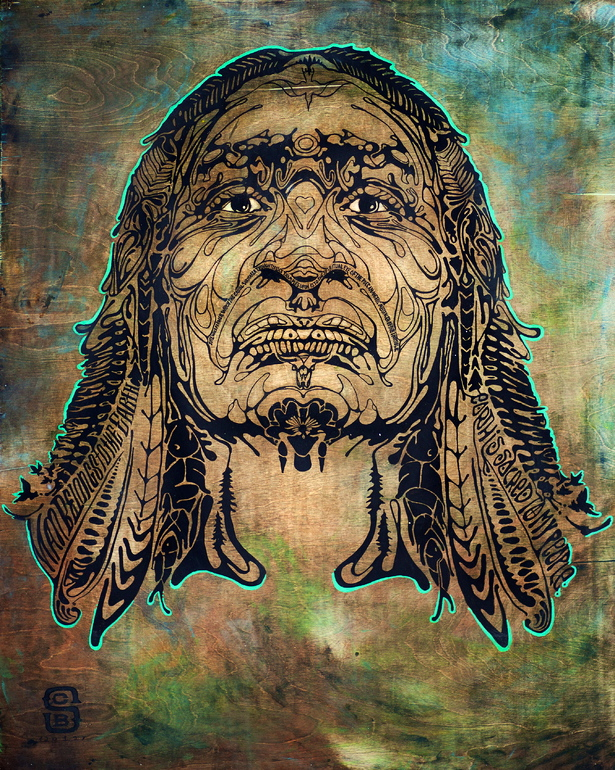 Chief Seattle from the Symmetrical Series